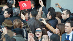 Tunis: Demonstration vor dem Haus des ermordeten Oppositionspolitikers Chokri Belaid.