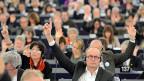 Parlamentsmitglieder in Brüssel - während der Budget-Debatte.
