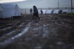 Ein Flüchtlingslager nahe Azaz, nördlich von Aleppo in Syrien.
