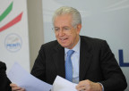 Mario Monti, am 16. Febuar unterwegs auf Wahlkampftour in Turin.
