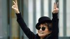 Yoko Ono in der Schirn-Kunsthalle in Frankfurt am Main, am 14. Februar 2013.