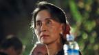 Aung San Suu Kyi am 16. Februar am 5. Photo Festival in der burmeischen Hauptstadt.