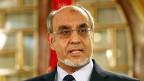 Premier Hamadi Jebali gibt am 19. Februar in Tunis seinen Rücktritt bekannt.