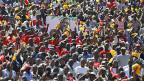 Demonstration für den Präsidentschaftskandidaten Uhuru Kenyatta, am 12. Januar 2013 in Nairobi.
