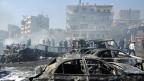 Platz, auf dem in der syrischen Hauptstadt Damaskus am