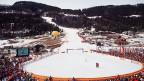 Blick auf die Arena der alpinen Ski-Disziplinen im norwegischen Lillehammer 1994.