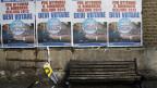 Wahlkampfposter von Silvio Berlusconi, gesehen in Rom am 21. Februar 2013.