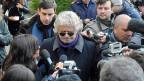 Beppe Grillo: Er hat vor allem die Stimmen von Jungen erhalten.