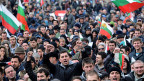 Volksproteste in der bulgarischen Hauptstadt Sofia, am 24. Februar 2013.
