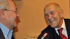 Stéphane Hessel im Dezember 2011, im Interview mit Frankreich-Korrespondent Ruedi Mäder.