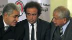Amr Hamzawy (Mitte) mit zwei Kollegen, die ebenfalls der ägyptischen Opposition angehören.