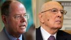 Kein gemeinsames Essen: Peer Steinbrück und Giorgio Napolitano.