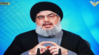Hisbollah-Führer Nasrallah bei einer Fernsehansprache in Beirut am 27. Februar.