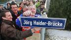 Einweihung der Jörd Haider-Brücke 2009; die Freiheitlichen haben in Kärnten in 20 Jahren nicht nur Gutes hinterlassen.