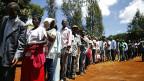 Schlangenstehen zum Wählen in der kenianischen Hauptstadt Nairobi.