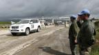 Uno-Blauhelmsoldaten an der syrisch-israelischen Grenze auf den Golanhöhen.