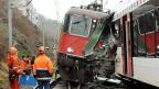 Einer von zehn Zwischenfällen: Entgleister Zug bei Neuhausen am Rheinfall, am 10. Januar.
