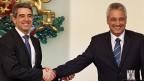 Bulgariens Staatspräsident Plevneliev und der neue -interimistische - Premier Raikov.