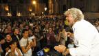 Beppe Grillos Wahlkampf in Acireale auf Sizilien im Oktober 2012. Im Gegensatz zum Rest Italiens haben sich «Grillini» und «Partito Democratico» auf Sizilien zusammengerauft.