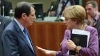 Zyperns Präsident Anastasiades und die deutsche Kanzlerin Angela Merkel am EU-Gipfel in Brüssel.