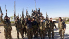 Truppen des syrischen Präsidenten Bashar al-Assad in der Nähe von Aleppo.