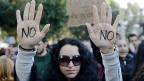 Proteste in der zypriotischen Hauptstadt Nikosia am 18. März 2013.