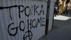 Graffiti in der Altstadt von Nikosia.