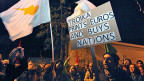 Proteste am Sonntag Abend in Nikosia.