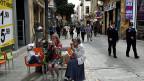 Eine Geschäftsstrasse in Nikosia.