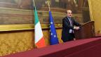 Pier Luigi Bersani, Chef des Partito Democratico, an einer Medienkonferenz am 25. März.