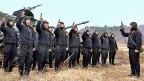 Nordkoreas Soldaten sind derzeit zu grossen Manövern befohlen.