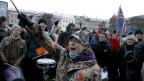 Demonstration in Reykjavik während der Finanzkrise