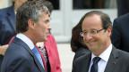 Der zurückgetretene französische Finanzminister Jérôme Cahuzac und Präsident François Hollande im Sommer 2012 in Paris.