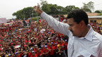 Nicolas Maduros auf Wahlkampftour; er ist der Wunsch-Kandidat des verstorbenen Präsidenten Chavez.