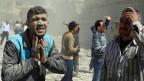 Nach einem Raketenangriff in Aleppo, am 30. März.
