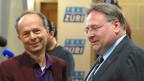 Die Stadtratskandidaten Marco Camin, rechts, und Richard Wolff, links.