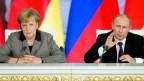 Zwischen Merkel und Putin herrscht Eiszeit.