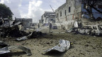 Nach einem Anschlag in der somalischen Hauptstadt Mogadischu, am 14. April.