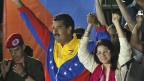 Venezuelas neuer Präsident Nicolas Maduro mit seiner Frau.