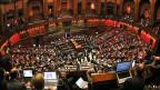 Die Abgeordnetenkammer des italienischen Parlaments am 18. April.