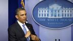 US-Präsident Obama an der Medienkonferenz vom 30. April im Weissen Haus.