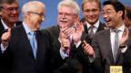 Die Parteispitze der deutschen FDP am Parteitag in Nürnberg