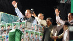 Nawaz Sharif auf Wahlkampf-Tour; hier in Rawalpindi.