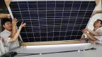 Auf chinesische Solarpaneele erhebt die EU künftig Strafzölle.