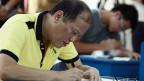 Der philippinische Präsident Aquino wählt am 13. Mai in Tarlac City auf den nördlichen Philippinen.