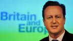 Der britische Premier David Cameron während seiner Rede zu Grossbritanniens Verhältnis zu Europa im Januar 2013.