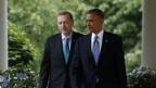 US-Präsident Obama und der türkische Premierminister Erdogan im Rosen-Garten des Weissen Hauses in Washington.