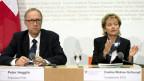 Eveline Widmer-Schlumpf und Peter Hegglin zur Unternehmenssteuerreform