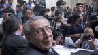 Der guatemaltekische Ex-Diktator Rios Montt wartet am 10. Mai 2013 auf ein Hearing vor Gericht.