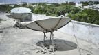 Satellitenschüssel auf einem Dach in Mogadishu. Symbolbild.
